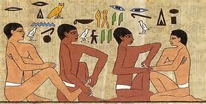 About Reflexology. Egyptian Picture
